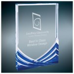 Blue Soaring Rectangle Acrylic Corporate Acrylic Awards Trophy