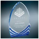 Blue Soaring Cathedral Acrylic Corporate Acrylic Awards Trophy