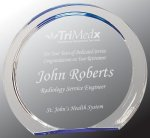 Blue Round Circle Halo Acrylic Award Corporate Acrylic Awards Trophy