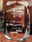 Square Multi-Faceted Clear Acrylic Award Corporate Acrylic Awards Trophy