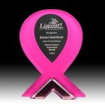 Breast Cancer Awareness Acrylic Corporate Acrylic Awards Trophy