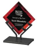 Acrylic Art Galaxy Award - Red Corporate Acrylic Awards Trophy