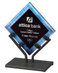 Acrylic Art Galaxy Award - Blue Corporate Acrylic Awards Trophy