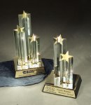 Star Burst Double Star Corporate Acrylic Awards Trophy