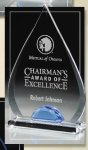 Tear Drop Corporate Acrylic Awards Trophy