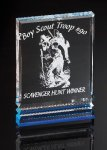 Rectangle with Ribs Corporate Acrylic Awards Trophy