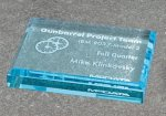 Paper Weight - Straight Bevel Corporate Acrylic Awards Trophy