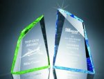 Faceted Mountain Cut Acrylic Award Corporate Acrylic Awards Trophy