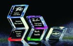 Slanted Hex Paper Weight Acrylic Award Corporate Acrylic Awards Trophy