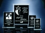 Back Beveled Black Painted Plaque Corporate Acrylic Awards Trophy