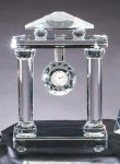 Crystal Clock With Roman Pillars Corporate Gifts