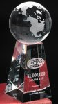 Tapered Globe Crystal Globes