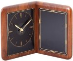Genuine Walnut Clock Plaque Desk Clocks