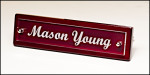 Rosewood Piano Finish Nameplate with Acrylic Engraving Plate Desk Wedge Name Plates