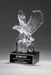 Crystal Eagle on Black Base Eagle Trophies