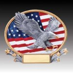 3-D Action Resin Oval Eagle Eagle Trophies