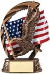 Bronze and Gold Eagle Award Eagle Trophies