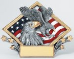 Resin Diamond Plate Eagle Eagle Trophies Awards