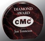 Round Circle Acrylic Award Employee Awards