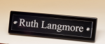 Black-Piano Finish Nameplate with Acrylic Engraving Plate Employee Awards