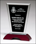 Stand up Glass on Piano Finish Base Employee Awards