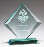 Jade Glass beveled Diamond Award Employee Awards