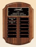American Walnut Perpetual Plaque Employee Awards