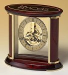 Skeleton Clock with Brass and Rosewood Piano Finish Employee Awards
