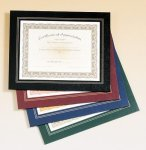 Leatherette Frame Certificate Holder Employee Awards