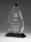 Arrow Series Crystal Award with Black Accent Employee Awards
