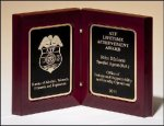 High Gloss Rosewood Book Plaque Employee Awards