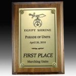 Walnut Plaque with Full Plate Employee Awards