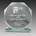 Glass Octagon Award Employee Awards