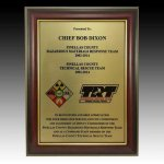 High Gloss Rosewood Finish Frame Plaque Employee Awards