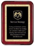Rosewood Piano  Finish Plaque Employee Awards