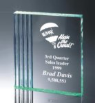 Fluted Side Acrylic Award Employee Awards