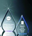 Beveled Teardrop Acrylic Award Employee Awards