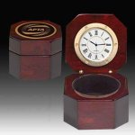 Captains or Desk  Clock - Piano Finish Executive Gift Awards