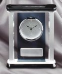 Smoked Glass Clock With Pillars Executive Gift Awards