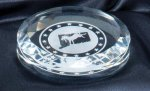 Crystal Round Paper Weight 3.5 Executive Gift Awards