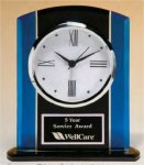Two Tone Glass Clock Executive Gift Awards