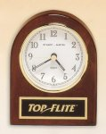 Rosewood Piano Finish Desk Clock Executive Gifts