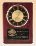 Rosewood Piano Finish Vertical Wall Clock Executive Gifts