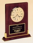 Desk Rosewood Piano Finish Clock Executive Gifts