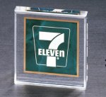 Emerald Marble Square Acrylic Paper Weight Executive Gifts