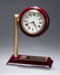 Rail Station Rosewood Piano Finish Photo Desk Clock Executive Gifts