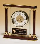 Piano-Finish Mantle Clock Executive Gifts