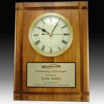 Solid Walnut Wall Clock Plaque Executive Gifts