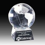 Spinning Crystal Globe Executive Gifts