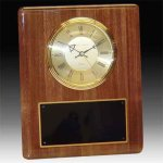 Piano Finish Walnut Clock Executive Gifts